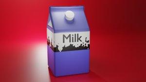 3D milk pak model