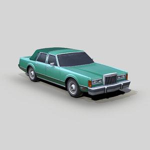 3D town car model