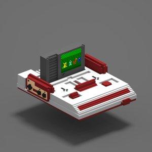 3D vintage console model