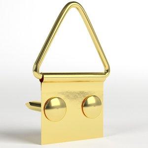 picture frame hanger kit 3D model