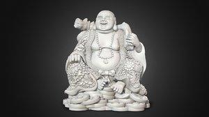 laughing buddha printed model