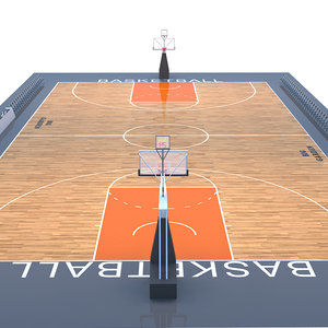 basket ball field 3D