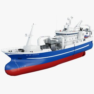 brendelen trawler fishing vessel 3D model