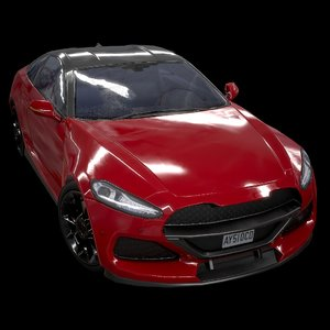 3D model sport coupe civilian 2019