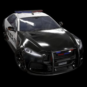 3D model sport coupe police v