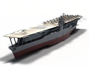 akagi carrier 3D model