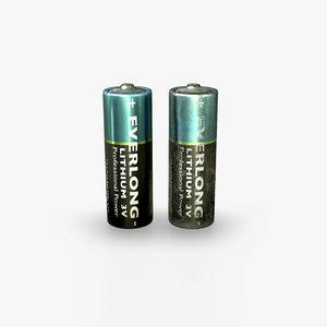 3D model battery pbr realtime