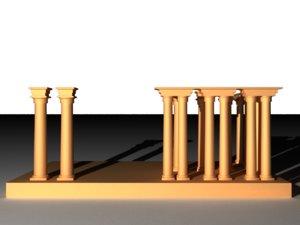 greek tempel 3D model