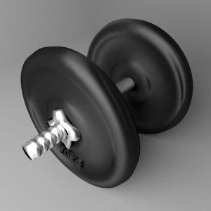 adjustable dumbbell 20 kg 3D model