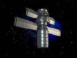 3D realistic space satellite