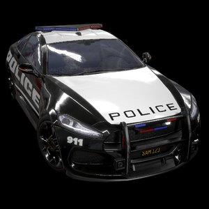sport coupe police v 3D model