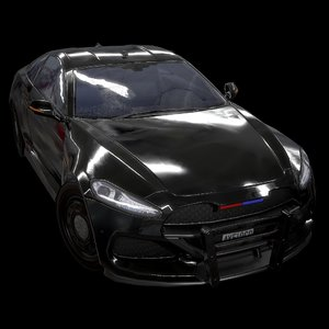3D sport coupe police stealth