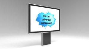 designed advertising billboard model
