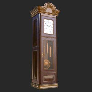 3D vintage furniture clock pbr model