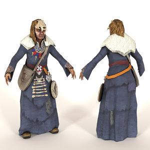 3D shaman man