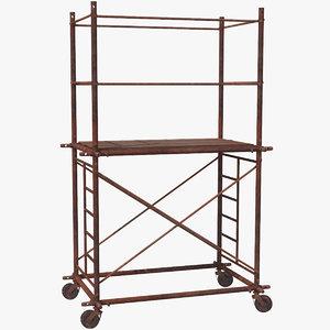 old scaffoldings modular industry 3D model