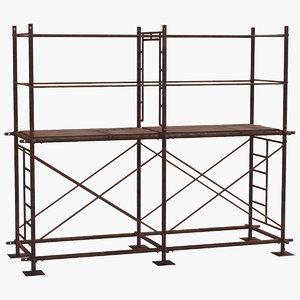 old scaffoldings modular industry 3D