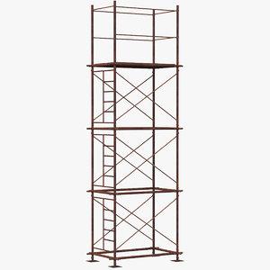 old scaffoldings modular industry model