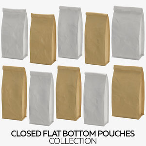 3D closed flat pouches
