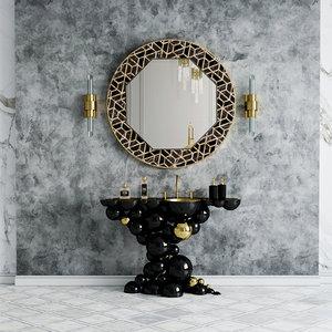 3D maison valentina mirror washbasin