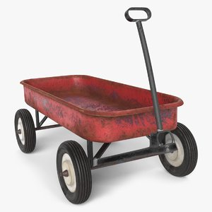 3D old wagon model
