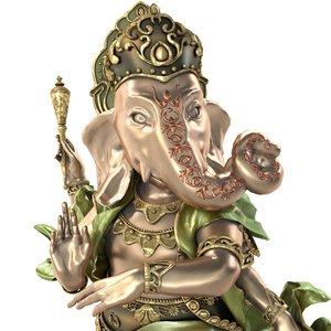 indian god ganesha 3D model