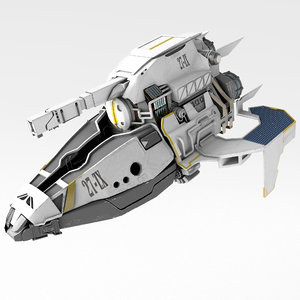 space aircraft 3D model