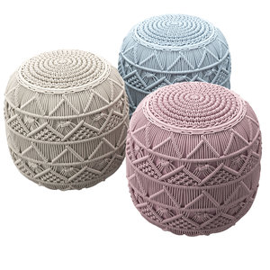 3D pouf knitted model