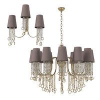 Aiardini 2015 134 lp12l crystal classic art deco chandelier wall lamp set