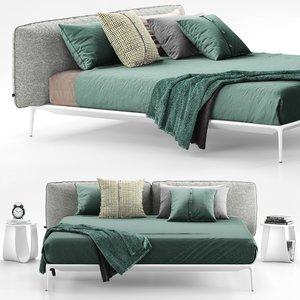 3D mdf italia yale bed model