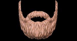 beard 3D model