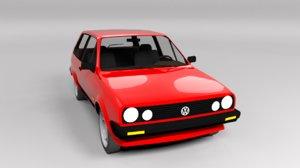polo volkswagen 1986 3D model
