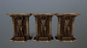 3D model statue