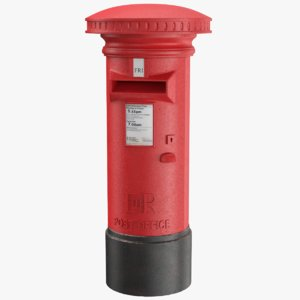 real pillar box 3D model