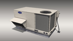 3D model carrier rooftop air conditioner