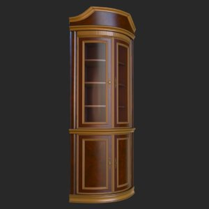 3D model vintage furniture bookcase pbr