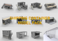 Shipping Container Sketchup Model Pack