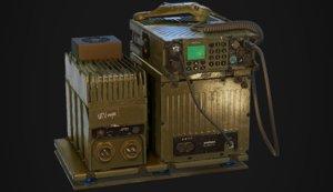 3D aselsan military radio model