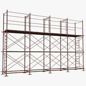3D old scaffoldings modular industry