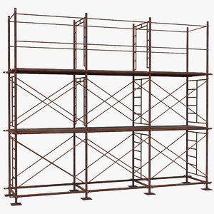 3D model old scaffoldings modular