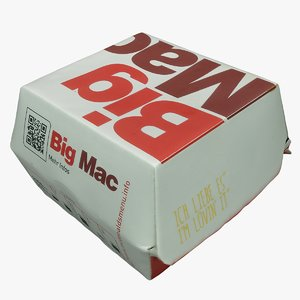 3D big mac burger box model