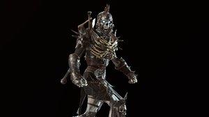 3D character skeleton warrior