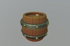 3D stylized barrel