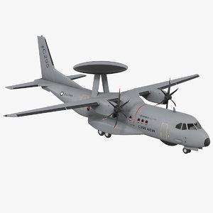 3D airbus military c295 aew model