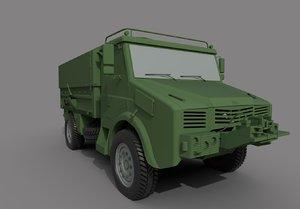 bmc 185 military truck 3D model