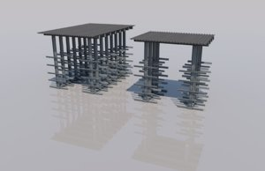 3D cantilever rack