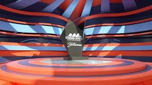 3D trophy stage model