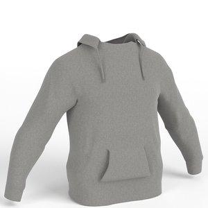 hooded sweater sweatshirt 3D model