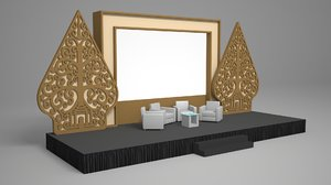 stage decoration 3D