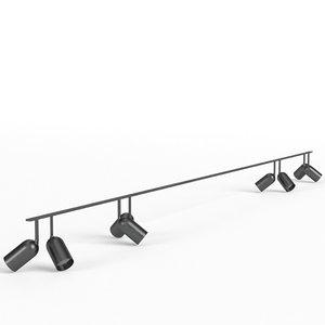 3d model studio light ceiling frame